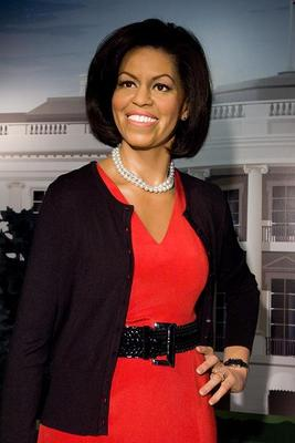 Michelleobamawaxstatue