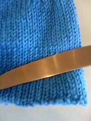 Blue folded over
