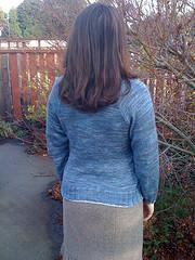 Finished seasweater back