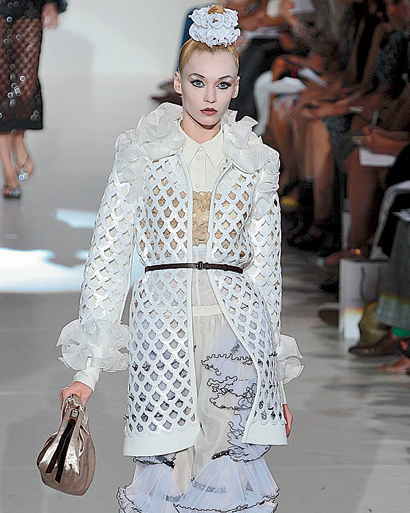 White lace coat