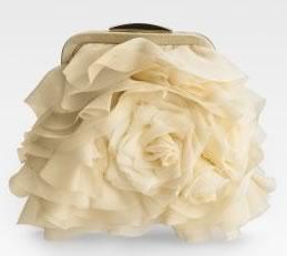 Mary Norton Chiffon Rose clutch