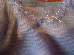 Sewing closeup pins