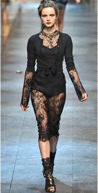 D & G fine knit cardigan w:lace