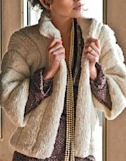 Boxy fur jacket