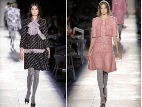 Pink jacket, silk ruffles