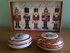 Limoges and nutcracker tray
