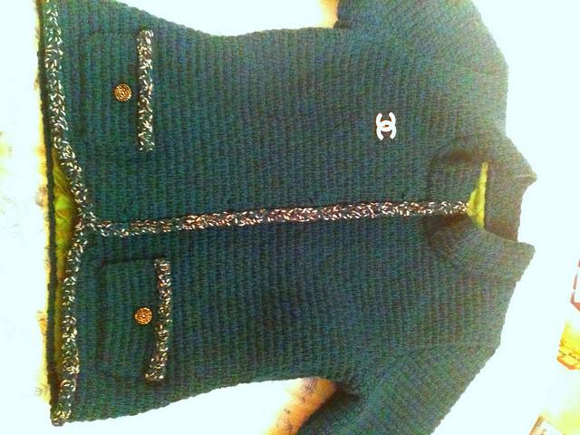 Emerald jacket trim