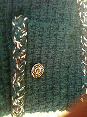 Button and trim closeup