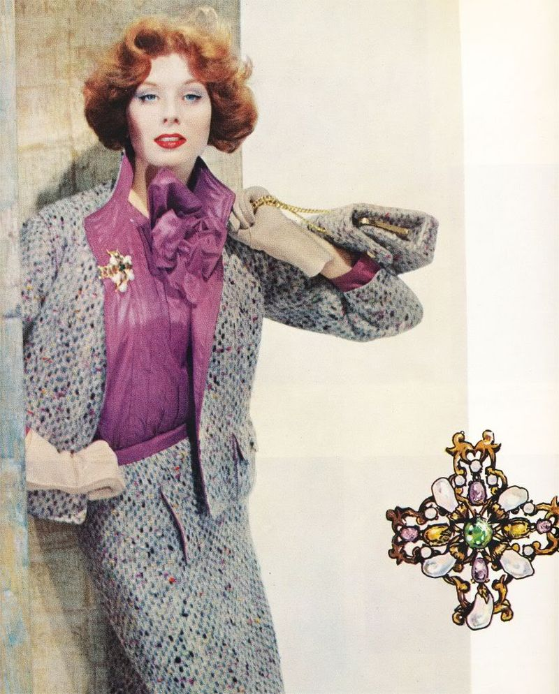 Chanel jacket matching blouse