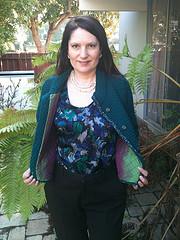 Green jacket open