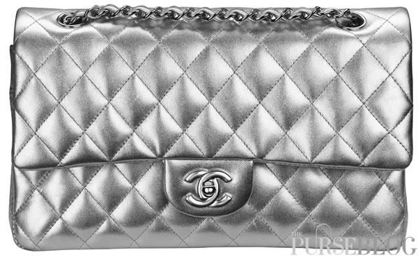 Silver Chanel Handbag