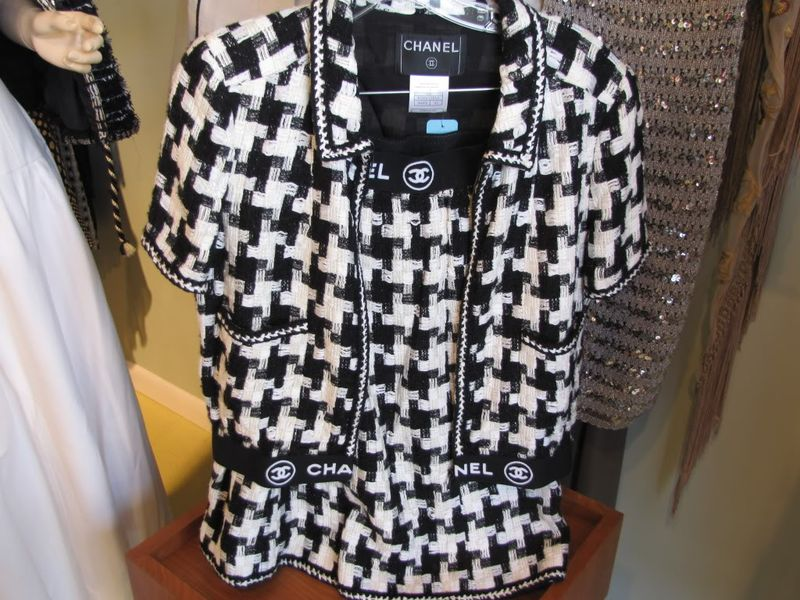 Chanel houndstooth suit