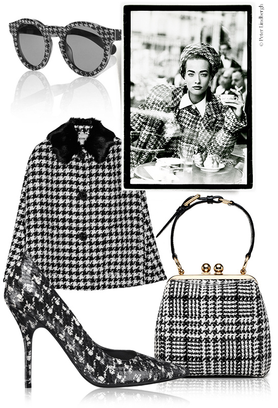 French vogue houndstooth