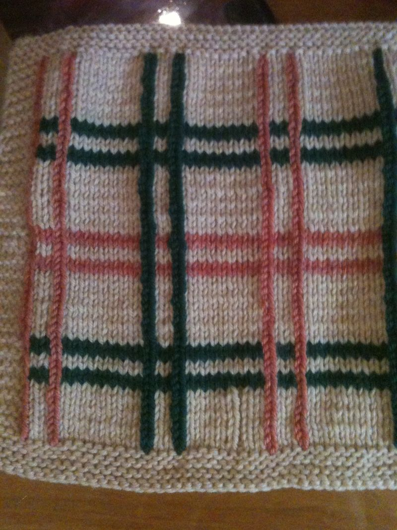 Plaid afghan finished