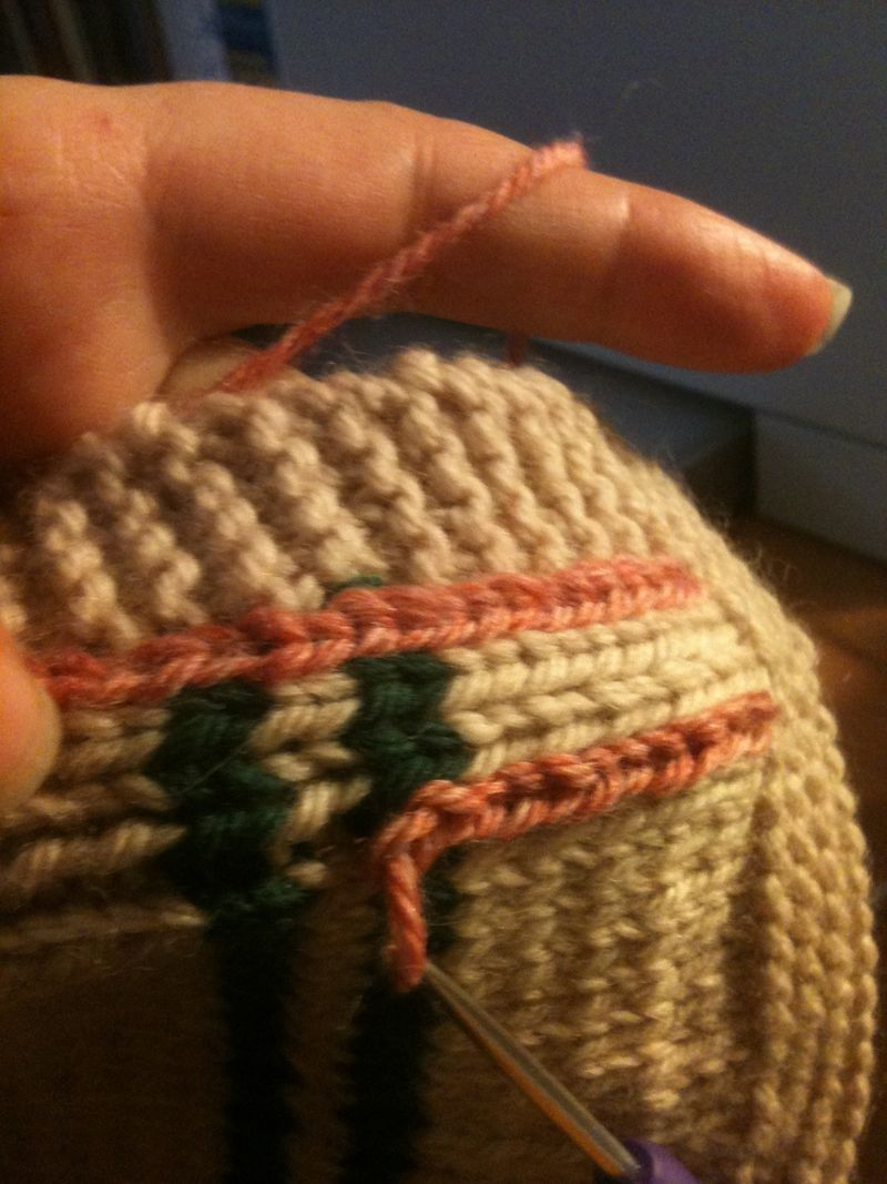 Demonstration slip stitch