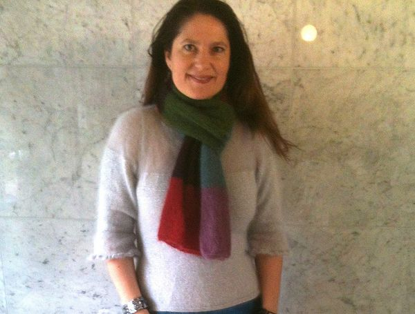 How To Tie A Knitted Scarf French Style Fashion Yarn Style