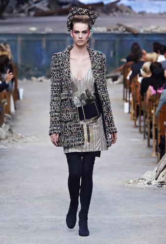 Tweed long jacket 1