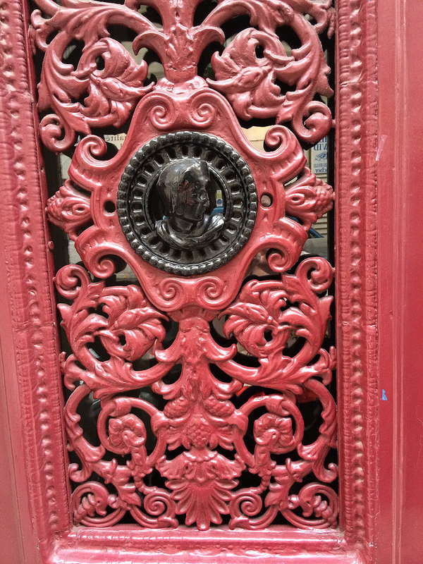 Red door face closeup 1