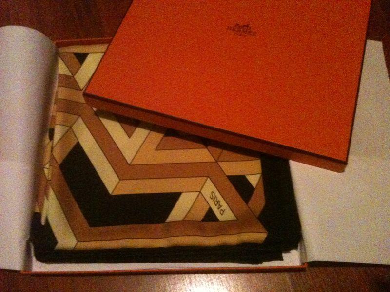 Hermes box & scarf