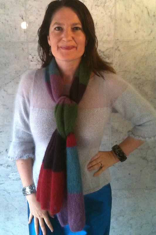 Day 32 bold stripe scarf