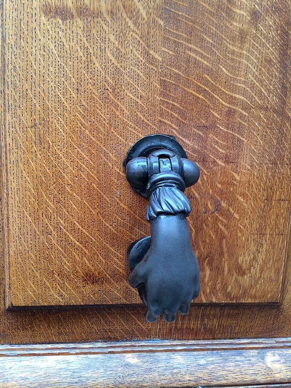 Closeup hand handle