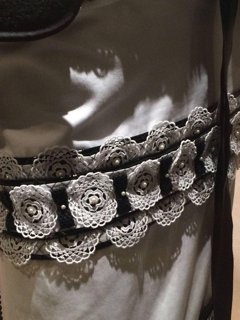 Crocheted beaded belt