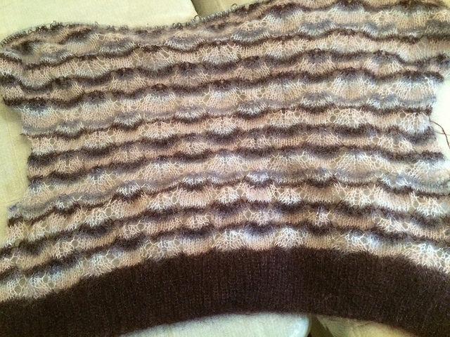 In progress lace pattern