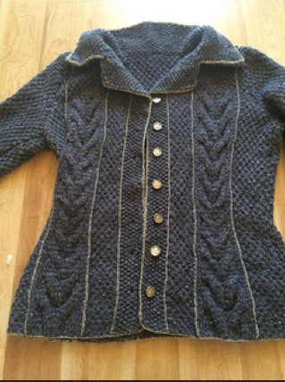 Closeup silver crochet