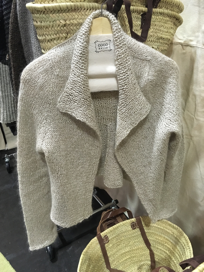 Cocoknits white mohair paper jacket