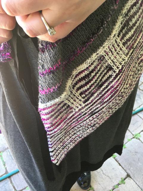Closeup slip stitch panels
