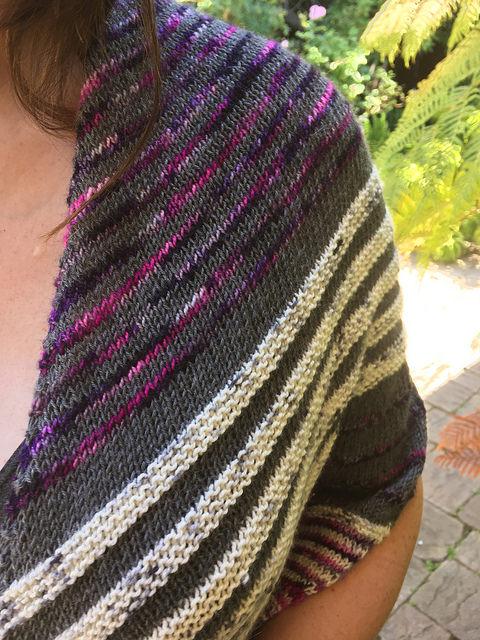 Closeup of hand dyed yarns