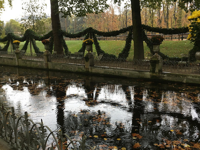 Luembourg garden in rain 1