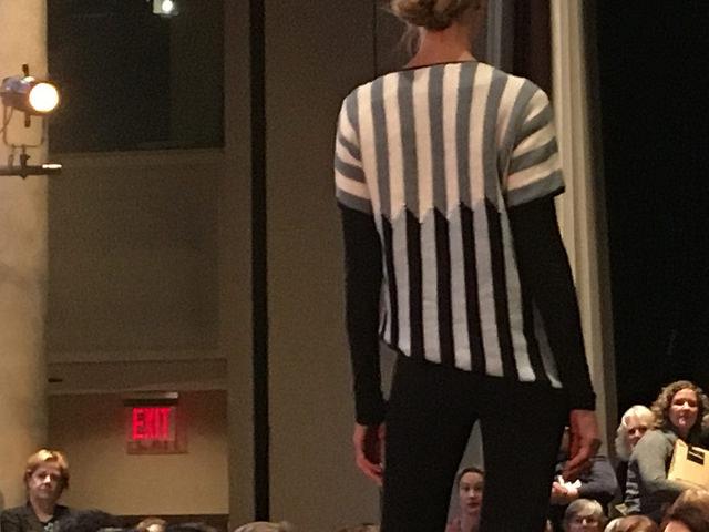 Rowan preview stripe intarsia back