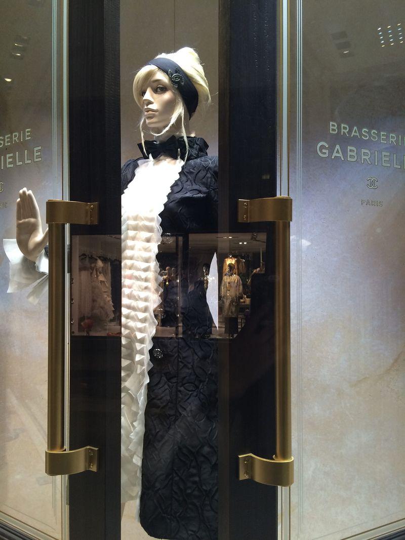 Mannequin in double doors