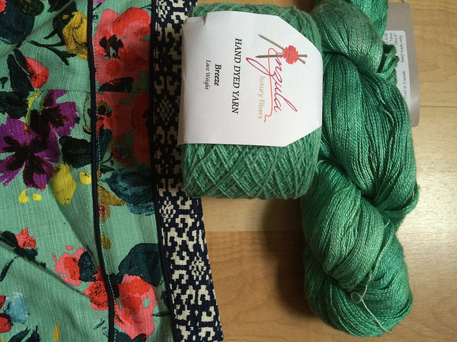 My skein of Anzula breeze