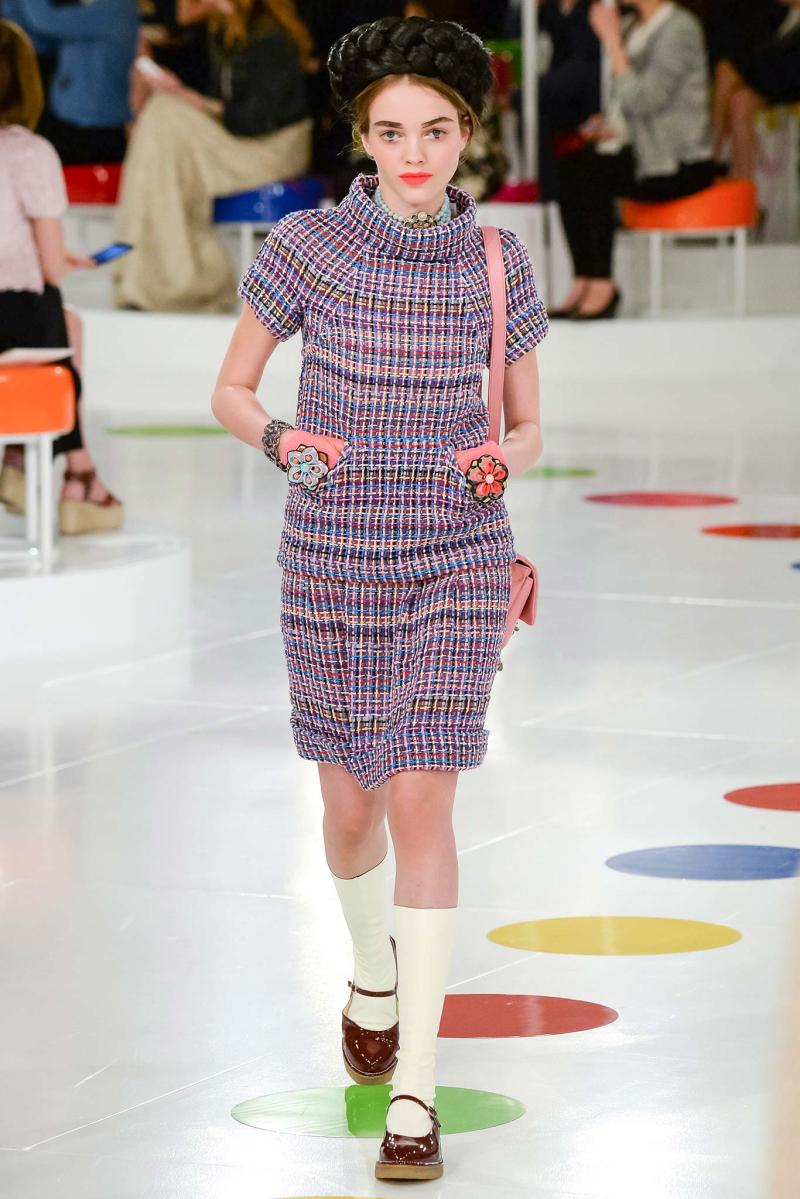 Chanel Soeul Lavender tweed dress