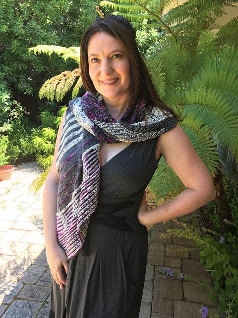 Shawl worn as scarf