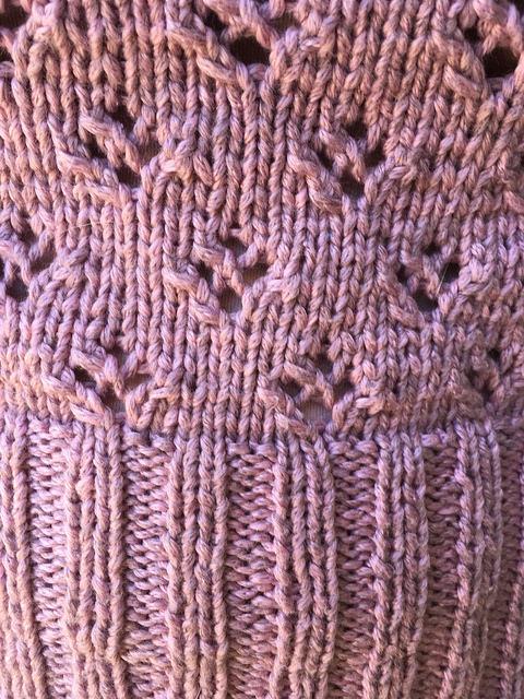 Closeup lace pattern