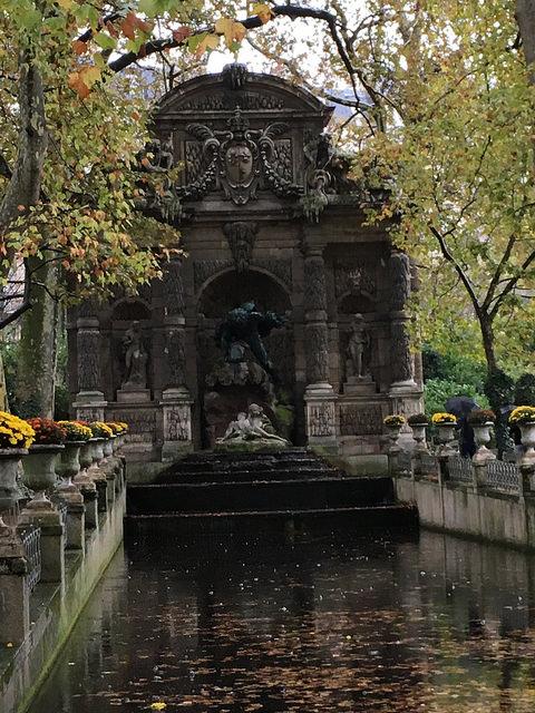 Luxembourg garden in rain 2