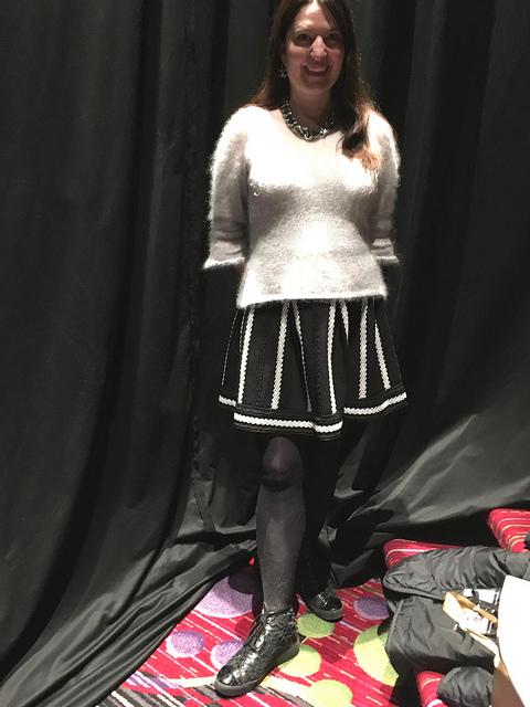 Me in Rowan fashion show