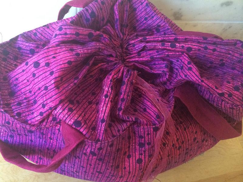 Knitting bag drawstring