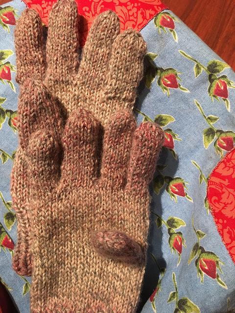 Gloves laying flat