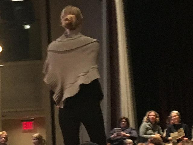 Rowan 61 shawl from back