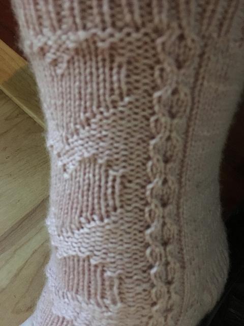 Enduring hearts sock closeup