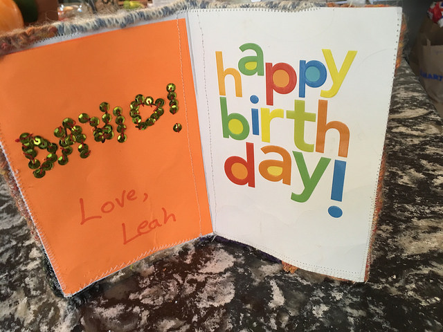 David's Birthday card