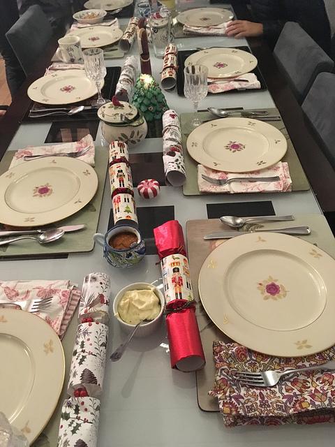 Christmas Evve table