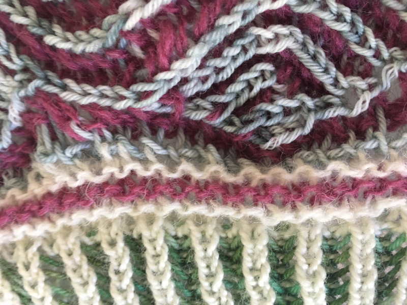 Brioche join closeup spindrift