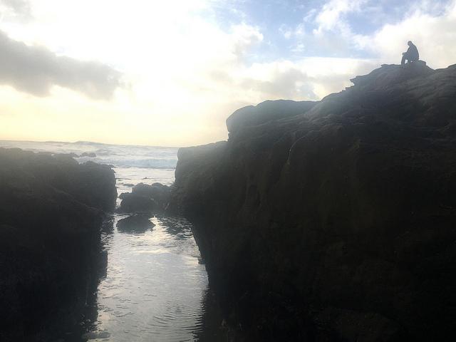 Bernhard on cliffs