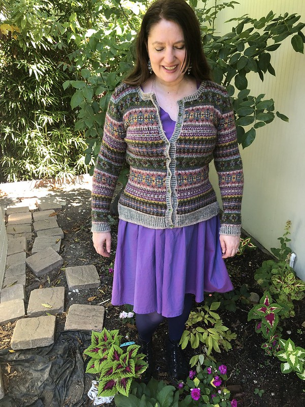 Unst paired with purple 2444 dress